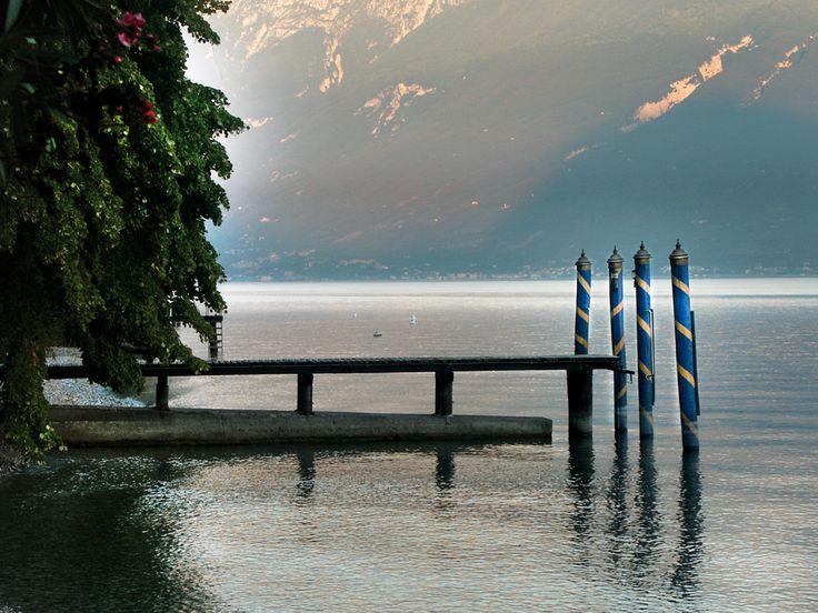 """The pier of Villa Feltrinelli where """"La Contessa"""" docks. #lake #garda #pier #grandhotel #villafeltrinelli #landscape"""