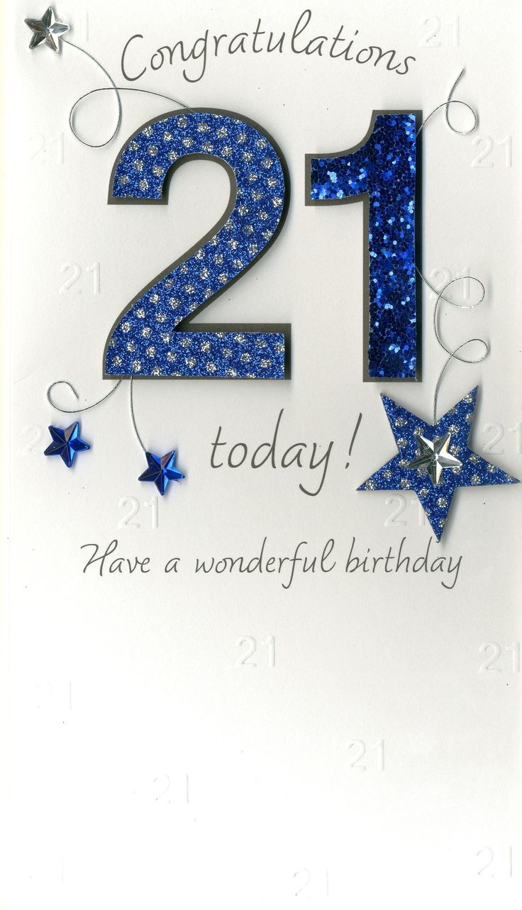 21st birthday cards male - Google Search