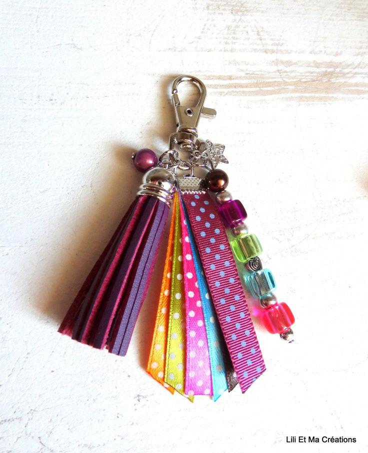 """Bijou de sac, porte-clés Grigri Lili et Ma Créations """"Multicolores"""" : Autres bijoux par lili-et-ma-creations"""