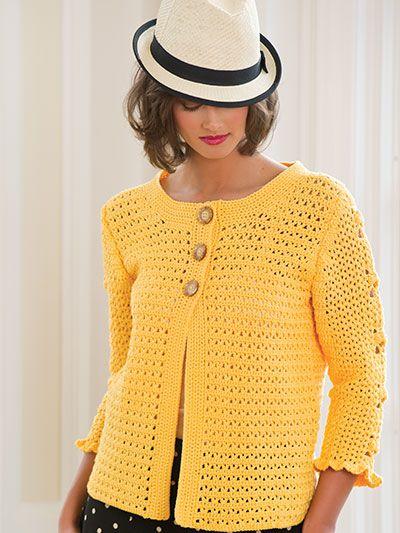 Blusa de #Croche com botões