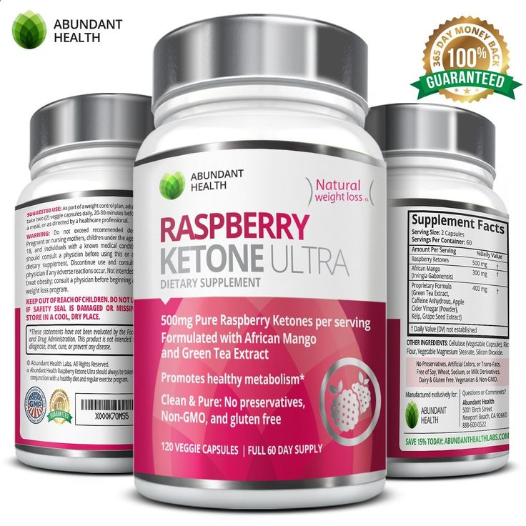 Raspberry Ketone ULTRA - 500MG Pure Raspberry Ketones per Serving with African Mango and Green Tea Extract for Weight Loss Maximum Strength Blend - No Fillers or Binders Non-Stimulating Dietary Supplement - 120 Vegetarian Capsules - Full 60 Day Supply - Manufactured in the USA in an FDA Approved GMP Certified Laboratory exclusively for Abundant Health >>> Check out this great image : Weight Management