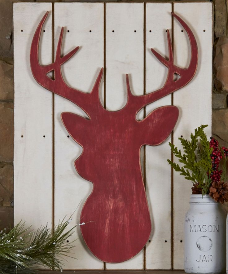 Another great find on #zulily! Unfinished Deer Head Décor by Unfinished Wood Co. #zulilyfinds