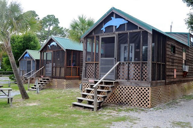 Navarre Beach Campground - Cabins by RV Expedition, via Flickr