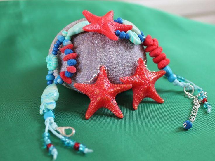 Bracelet & Earrings / Summer Jewelry / Starfish / Handmade Polymer Clay   Jewelry & Watches, Handcrafted, Artisan Jewelry, Bracelets   eBay!