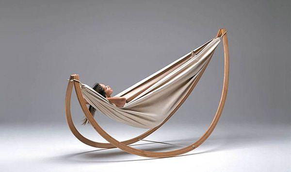 This Hammock Design by Georg Bechter Can Also be Used as a Chair #Timber #Furniture trendhunter.com #RockingChair