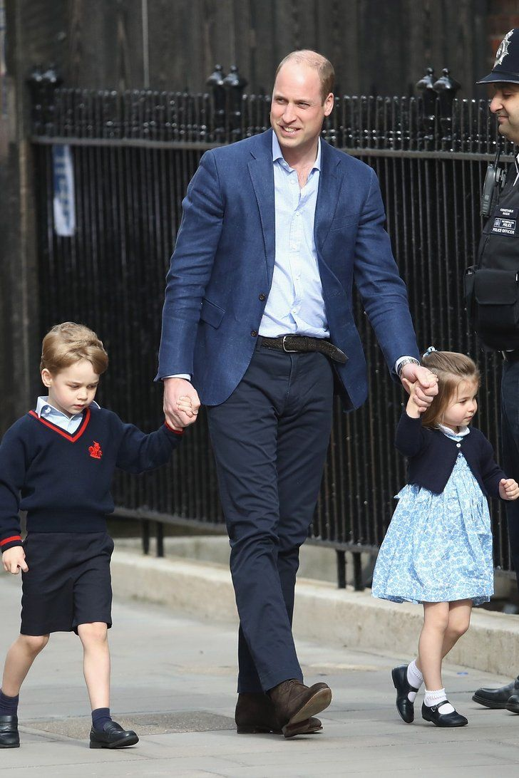 Watch Prince George and Princess Charlotte Arrive at the Royal Wedding video