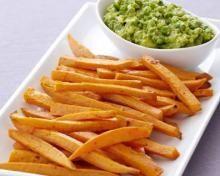 Sweet Potato Fries with Guacamole Recipe. Yum!!