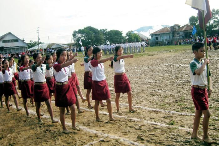 School girls of India, Mizoram, Hnahthial