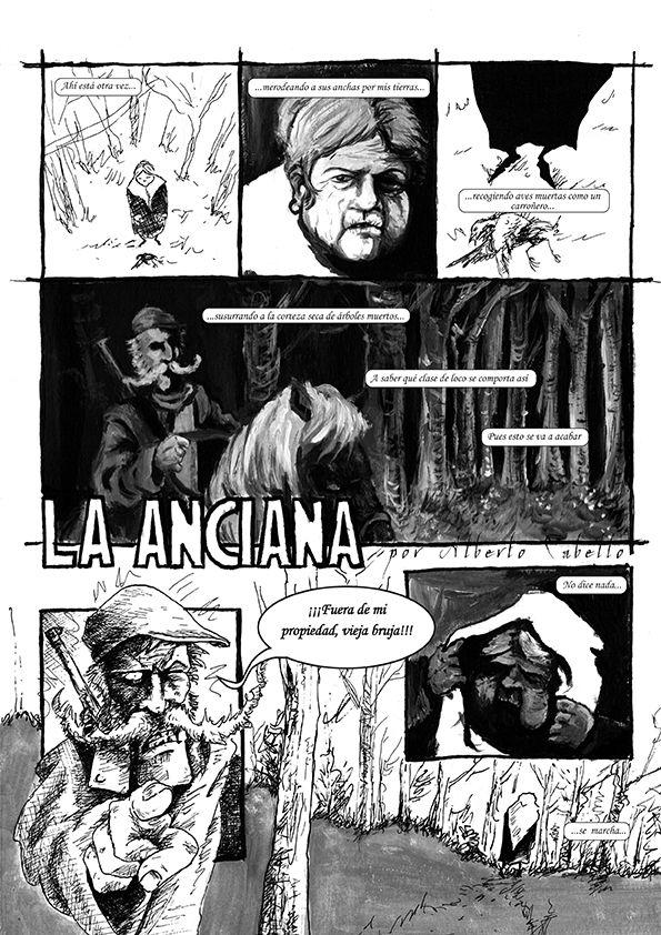 """""""La Anciana"""" de Alberto Cabello pag. 1"""