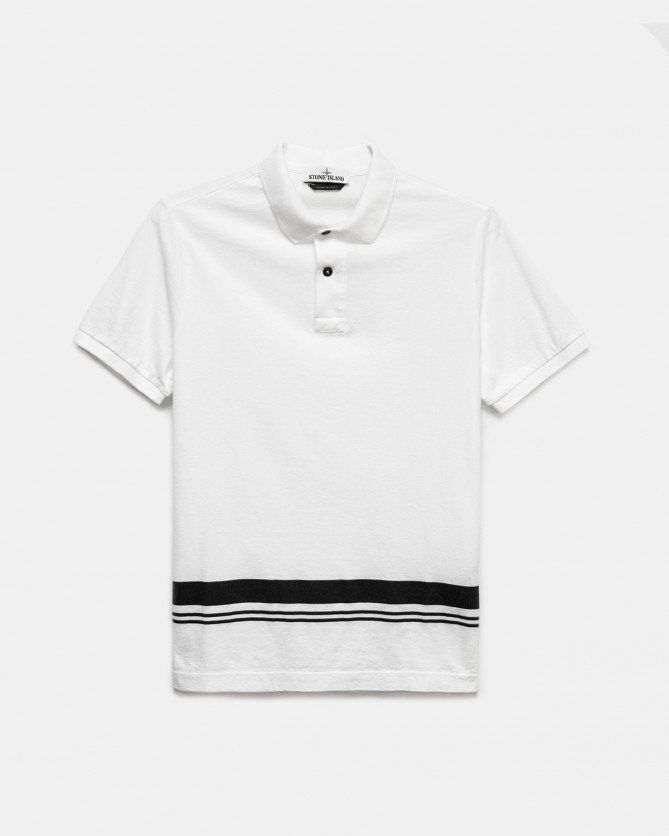 Stone Island Marina Polo Shirt (Natural White)