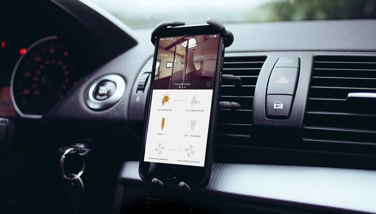 Goya Smart Control. Car UI UX domotic app