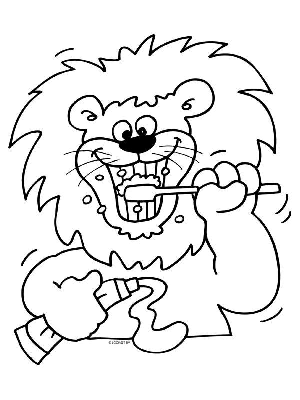 Kleurplaat Leeuwenkop Kiezen Tanden Kleurplaat Google Zoeken Thema Tanden