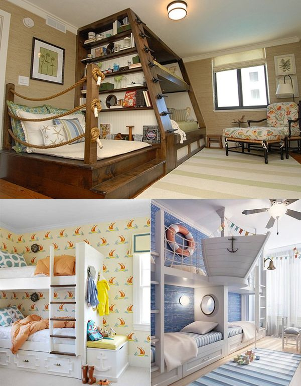 Nautical themed kids 39 rooms that are genius kid ideas for Bedroom ideas nautical