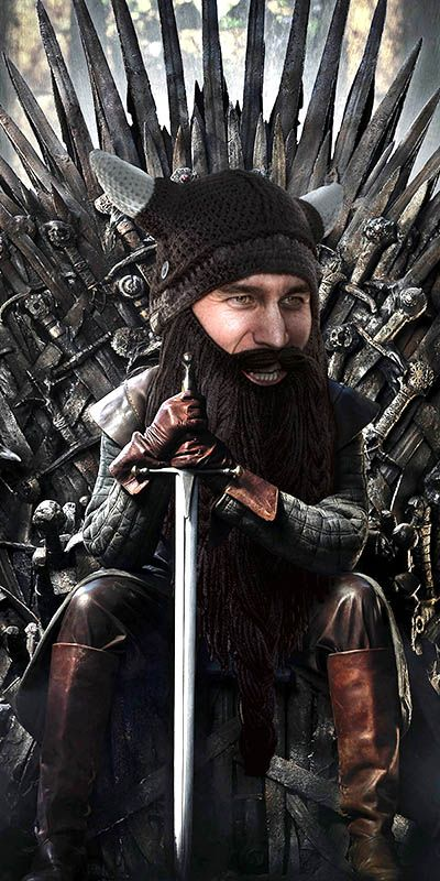 Beard Head's take on Game of Thrones! Amazing knit viking hat with beard! Winter is coming... Available at www.beardhead.com