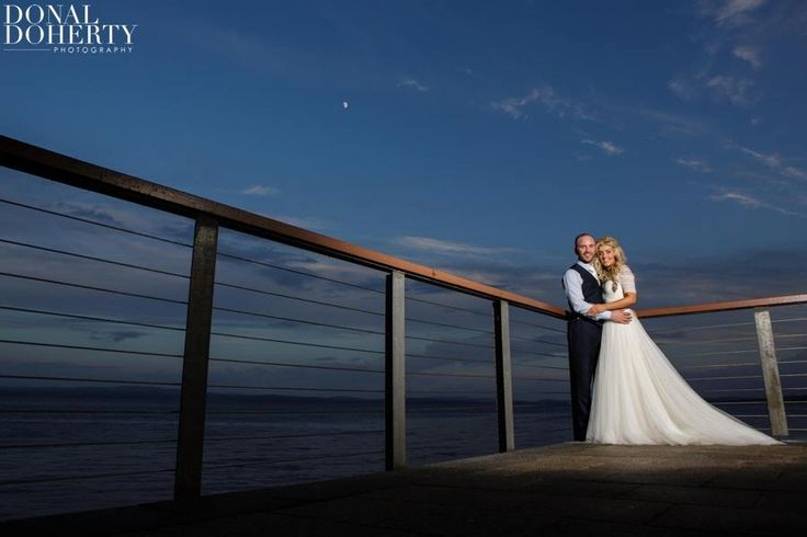 A stunning Bride & Groom on our balcony!