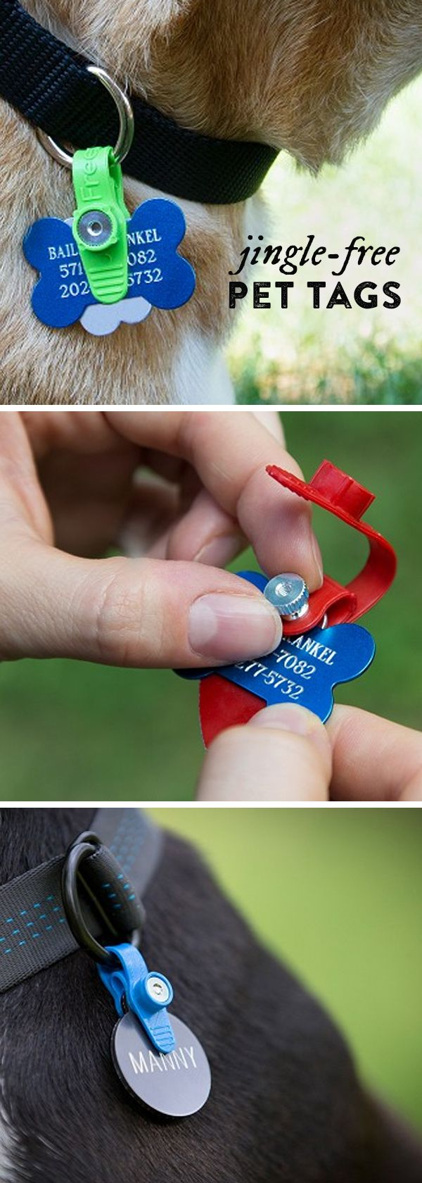 ID tags are important for your pets (especially if they ever get lost), but the jingle is just so annoying. FreezeTag is a durable pet tag silencer that's waterproof, resists odors, and stops that noise. Made in the USA, FreezeTag holds up to four tags and easily attaches to your pet's collar.