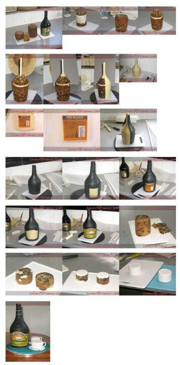 Wine Bottle Cake Tutorial. Maybe for upcoming 30th birthday.