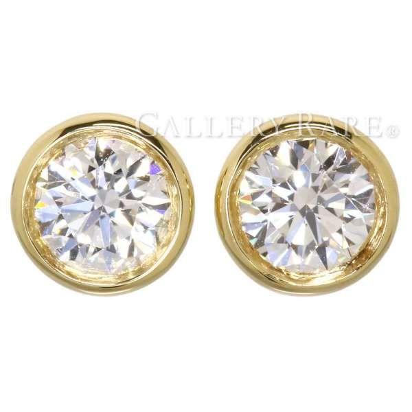 ティファニー ピアス バイザヤード エルサ・ペレッティ ダイヤモンド 計約0.40ct K18YGイエローゴールド TIFFANY ジュエリー ダイアモンド