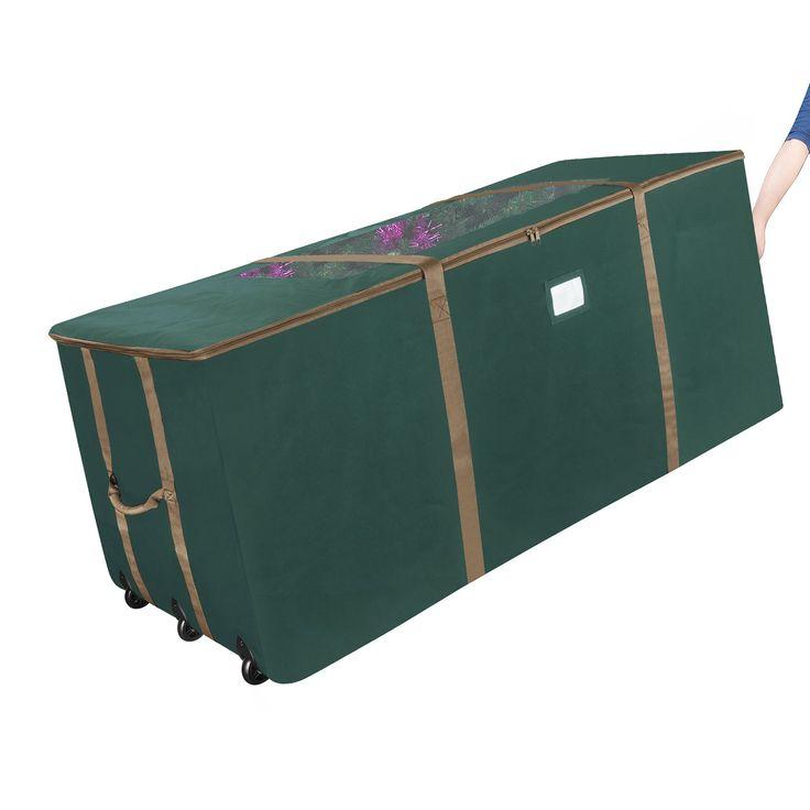 Elf Stor Rolling Duffle Christmas Tree Storage Bag - Dark Green