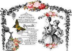 Etiqueta postal rosas.
