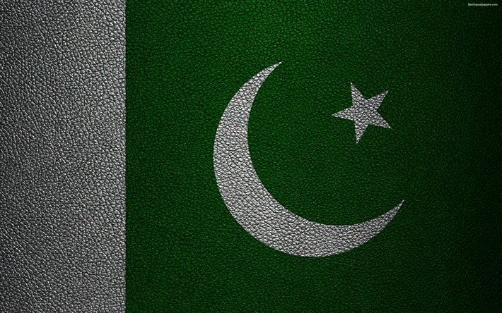 Download wallpapers Flag of Pakistan, 4K, leather texture, Pakistani flag, Asia, world flags, Pakistan