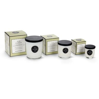Pear & Ginger Aromabotanicals scented candles, in three sizes