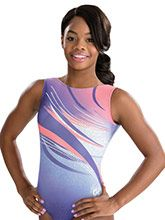 Purple Wind Gabby Douglas Leotard from GK Gymnastics