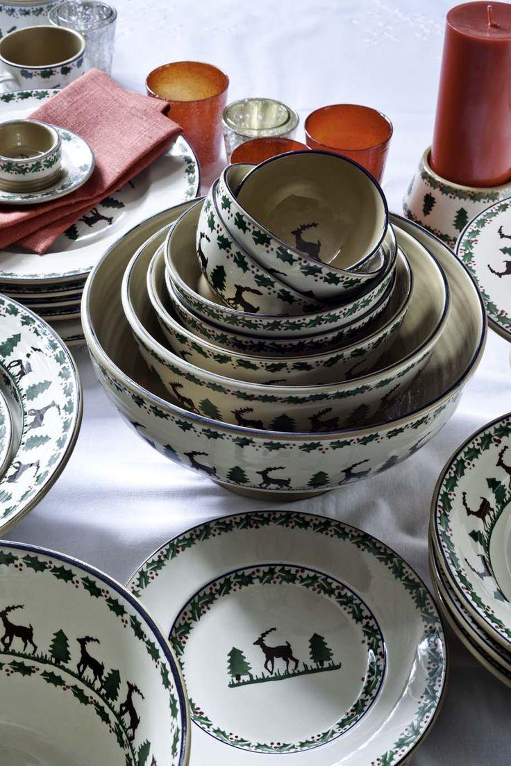 Reindeer Pattern  Nicholas Mosse Pottery Susie Watsonchristmas  Dinnerwareemma