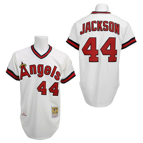 b9a91b2bef2 Mens Mitchell and Ness 1984 Los California Angels Reggie Jackson Authentic  1982 Home Jersey by Mitchell Ness - MLB.com ...