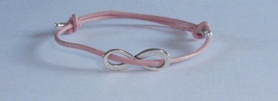 Pink Infinity Bracelet by WearMyJewellery on Etsy, £5.00