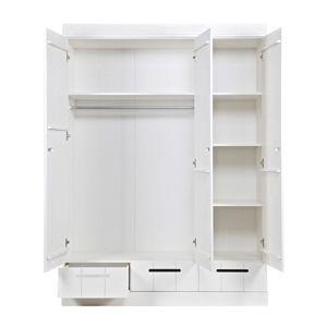 Armoire en pin 3 portes et 3 tiroirs poignées creuses Connect