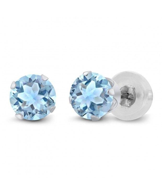 Birthstone earrings 14kt gold Round shape Stud earrings AAA gem 14k yellow Gold