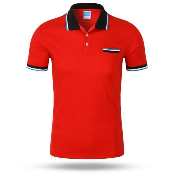 Mens Summer Contrast Color Casual Tees Sports Jerseys Golf Tennis Short Sleeve Polo Shirt 7 Colors