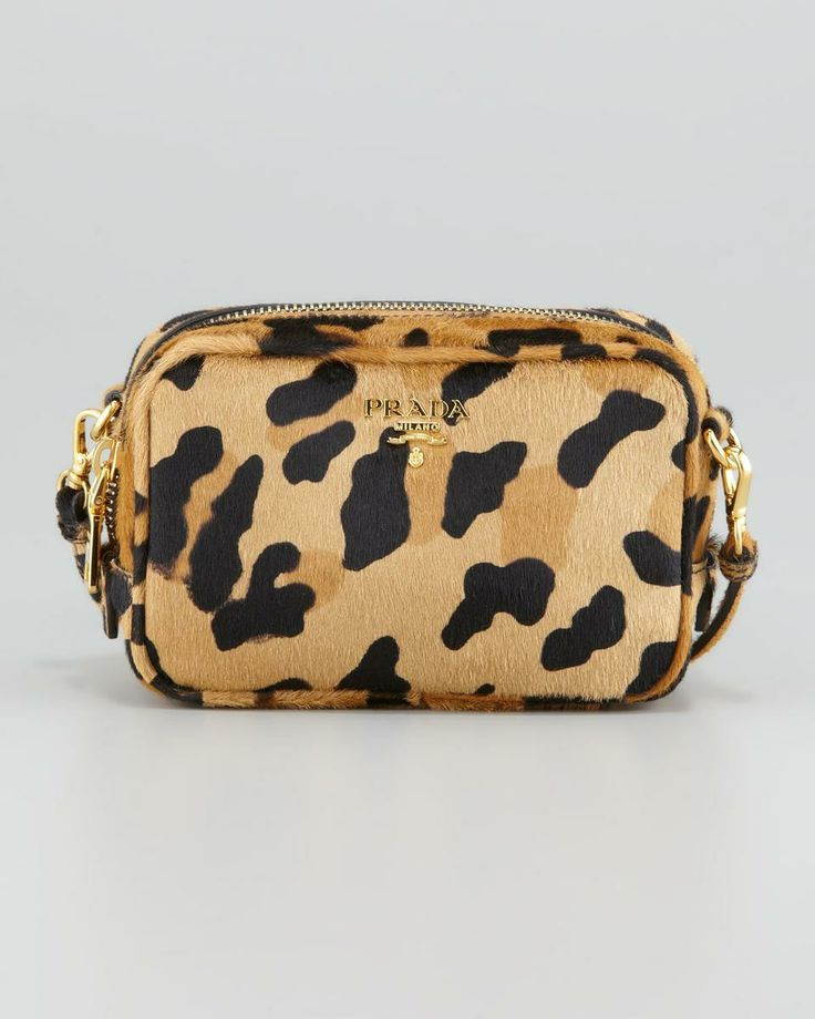 Leopard-Print Mini Crossbody Bag | Prada, Minis and Bags