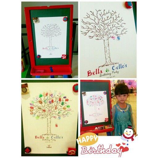 #OmemoriA birthday guestbook fingerprint art tree