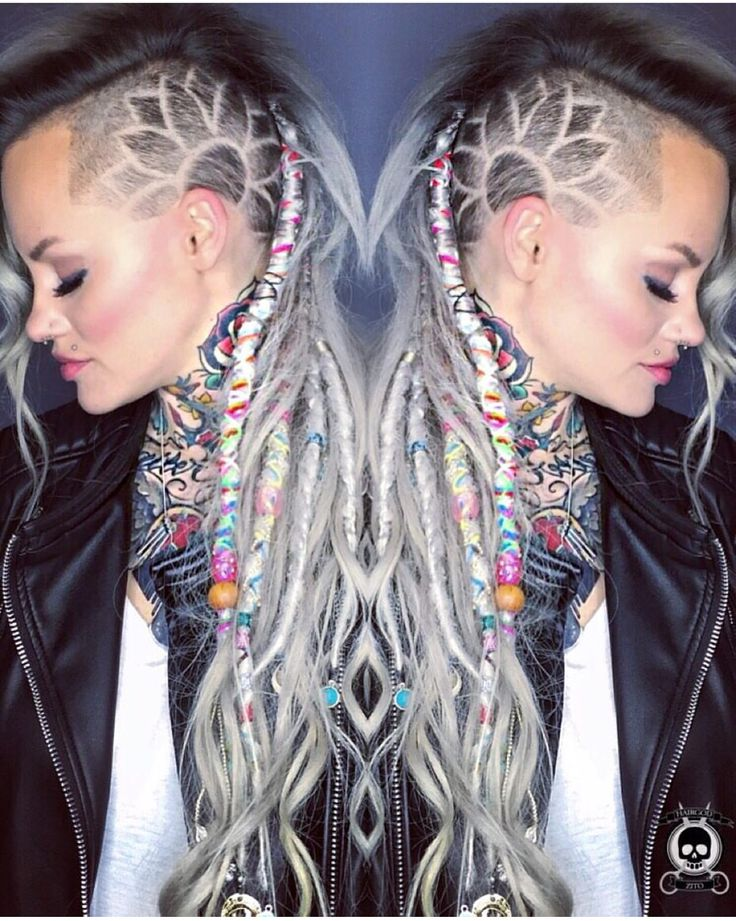 Wicked dreadlocks with hair carving. Model: Brandi Zito hotonbeauty.com