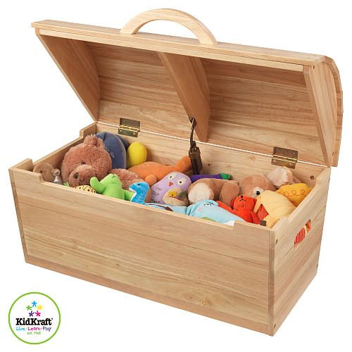 Childrens Jumbo Bedroom Room Tidy Toy Storage Chest Box Trunk: KidKraft Round Top Storage Chest