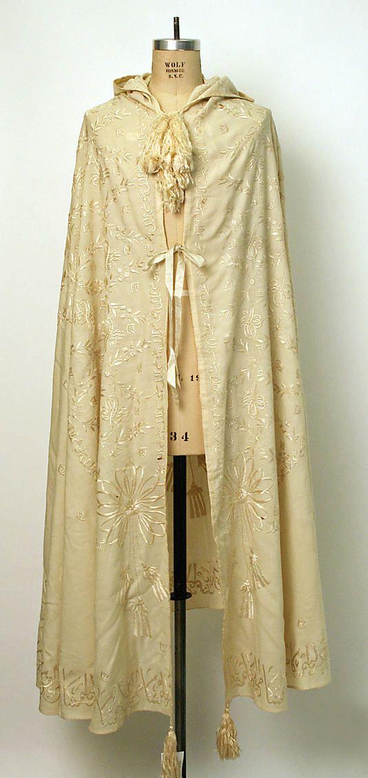 Burnus  Date:     1871 Culture:     Turkish Medium:     wool, silk
