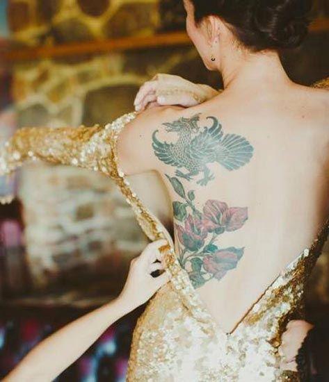 15 татуированных невест, доказывающих, что свадебные платья и татуировки отлично смотрятся вместе