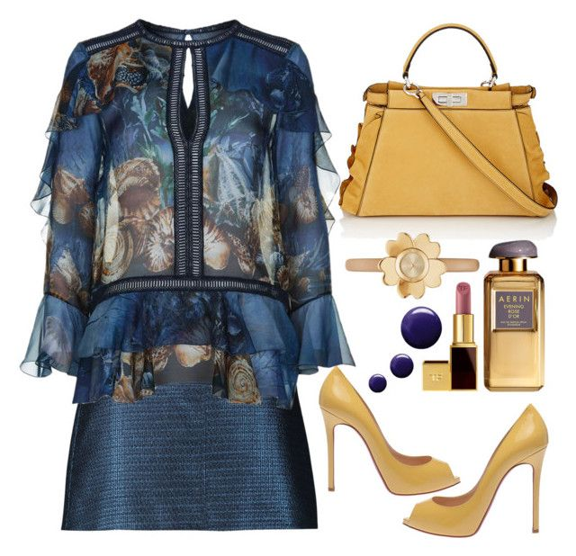 """Untitled #649"" by jovana-p-com ❤ liked on Polyvore featuring Christian Louboutin, Carven, Alberta Ferretti, Fendi, Michael Kors, Tom Ford and Topshop"