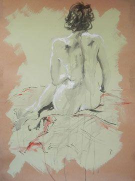 Mermaid - Drawing by Lisette Forsyth