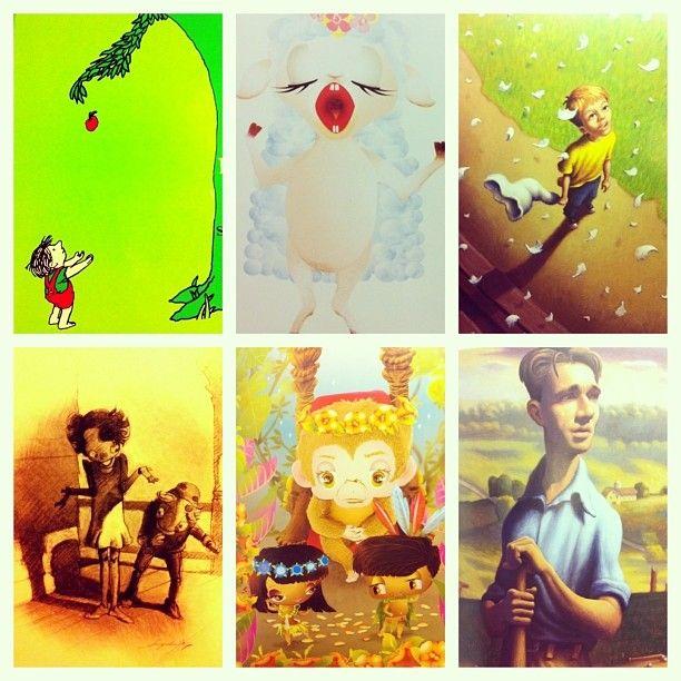 Illustrations of childrens books are so cool!!  http://itisgoodinmyhood.blogspot.nl/2013/12/boek-review-de-appels-van-meneer.html