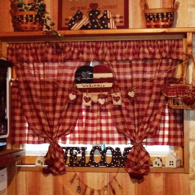手作りカーテン/ギンガムチェック…などのインテリア実例 - 2015-05-27 16:23:06