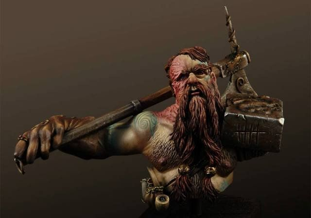 1:10 resin bust  resin model kit Dwarf Dragon Slayer