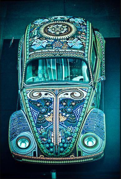 Blue Mosaic VW Beetle   #Volkswagon #bug