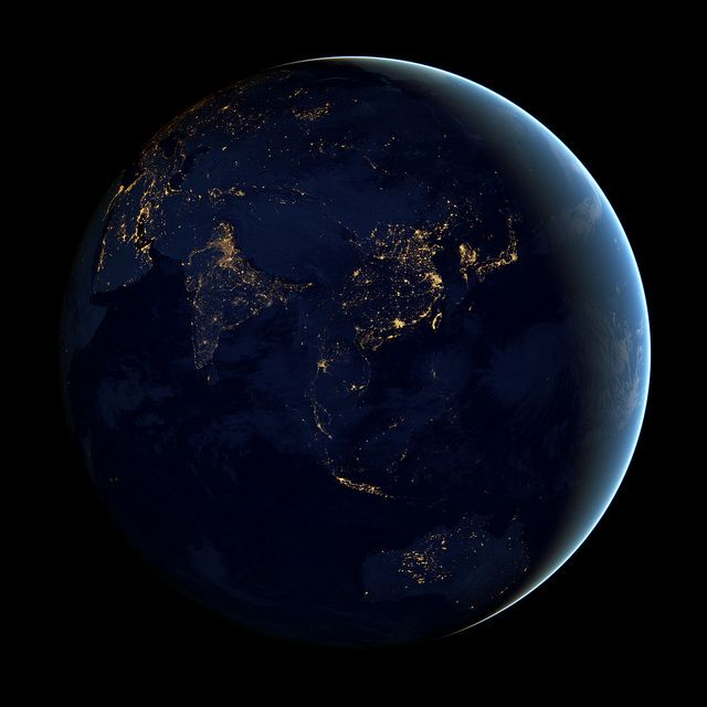 Black Marble - Asia and Australia by NASA Goddard Photo and Video, via Flickr