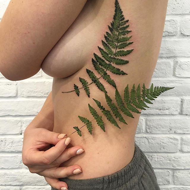Image result for silver fern tattoo realistic