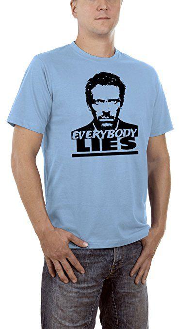 Touchlines Men's Everybody Lies T-Shirt, Blau (Skyblue 11), L