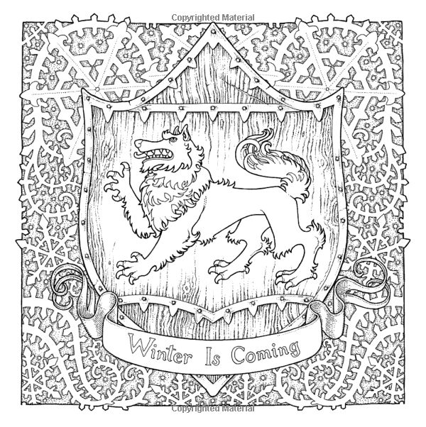 17 Best Images About Game Of Thrones Coloring Pages For