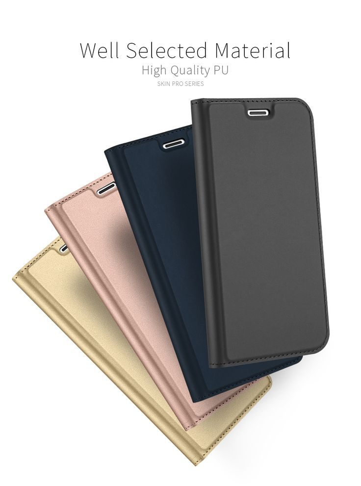 DUX DUCIS Magnetic Flip Card Slot Bracket PU Leather Case For iPhone X